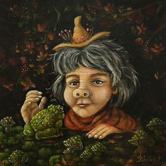 Witch painting Lucie Schrimpf
