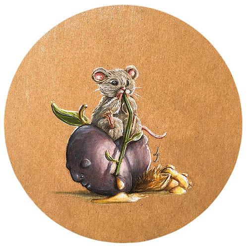 "Original drawing ""Prune et souris"""