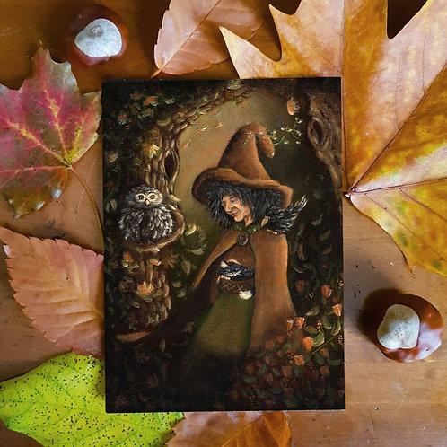 Postcard Witch Maga Physalis
