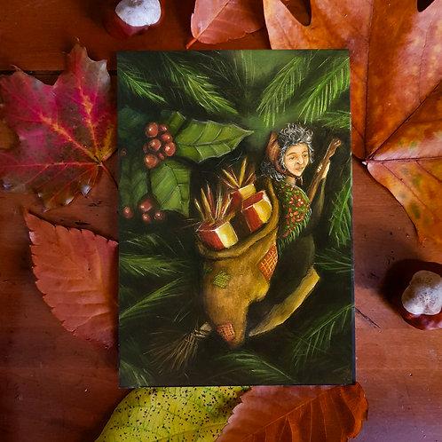 Postcard Witch La Befana