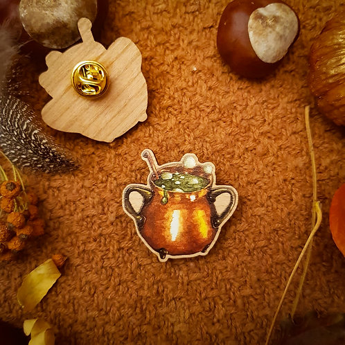 Pin Brooch Cauldron