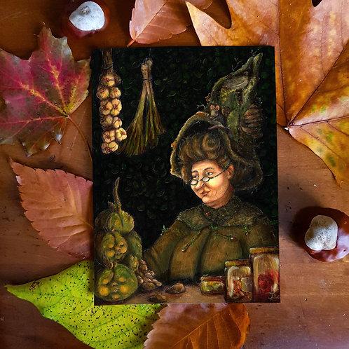 Postcard Witch Jour de Marché