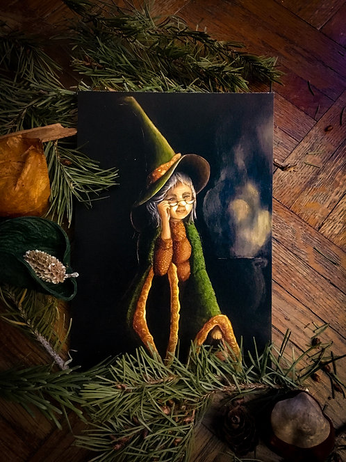 """Postcard """"Petronella Bolberg the Witch"""" Lucie Schrimpf"""