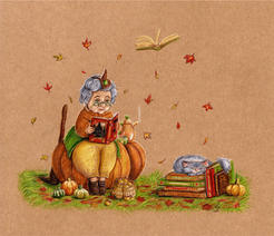 Autumn witch sorciere lucie schrimpf