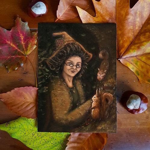 Postcard Witch Maga Corylus