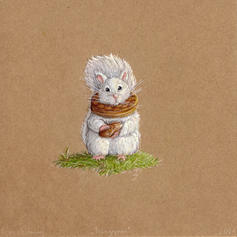 Squirrel illustration lucie schrimpf