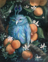Owl animal painting Lucie Schrimpf