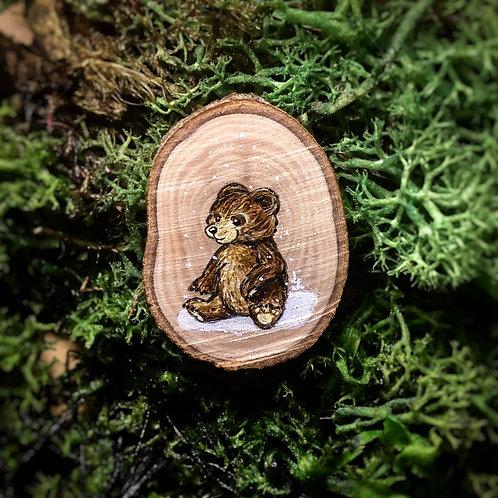 Tiny pin brooch Teddy bear