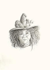 """""""Plum"""" - Witch drawing art Lucie Schrimpf"""