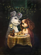 lady and the tramp dog peinture lucie schrimpf illustration