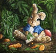 Peter Rabbit peinture lucie schrimpf illustration