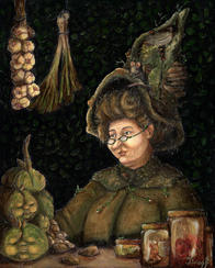Witch painting - Lucie Schrimpf