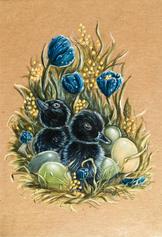 black ducklings art Lucie schrimpf