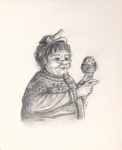 Witch drawing art Lucie Schrimpf