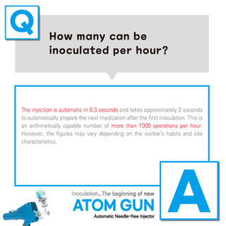 How many can be inoculated per hour?