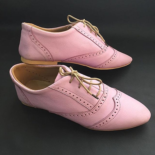 Lilac oxford shoes