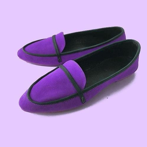Purple loafers