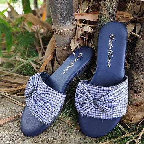 Blue checkered sliders