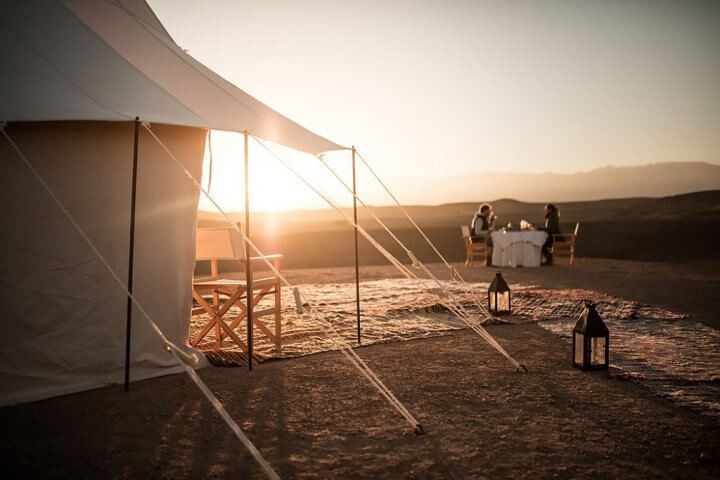 Coucher de soleil à Agafay