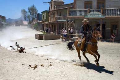 Scène de western Fort Bravo