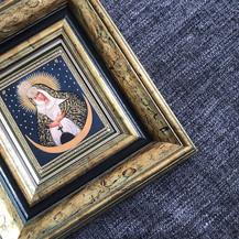 икона оформленная в 2 древянные рамы под музейным стеклом