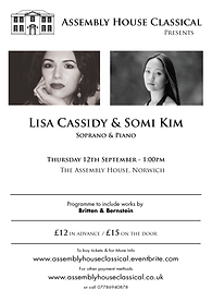 Lisa Cassidy and Somi Kim at the Assembly House, Norwich