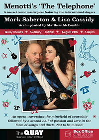 Menotti's The Telephone starring Lisa Cassidy and Mark Saberton