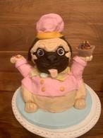 Baking Pug Cake