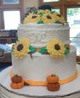 Sunflowers Fall Cake