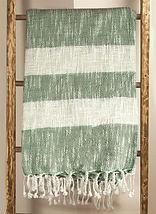 Green Stripe 50 x 60 Throw.jpg