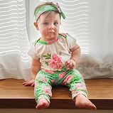 Baby Girls 3 PC GIFT SET Floral Onesie P