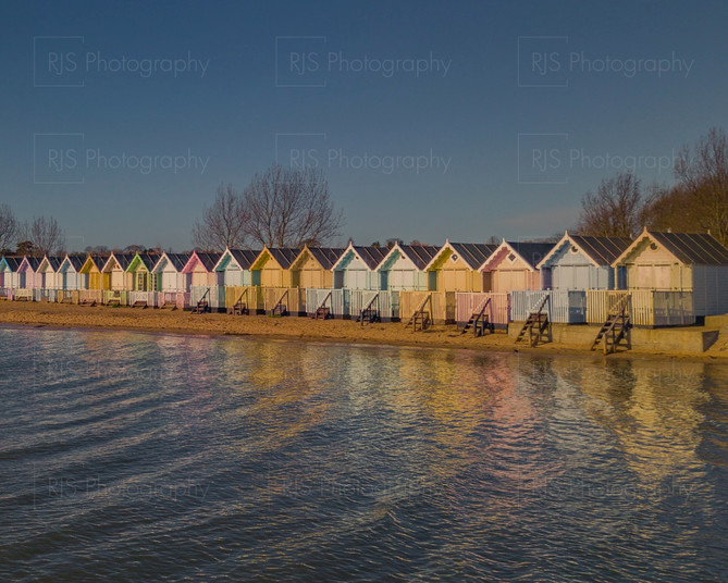 Beach huts of Mersea Island, Essex