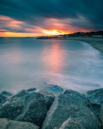 Holland on Sea Beach at Sunset