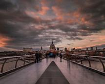 Millenium Bridge & St Paul's Cathedral
