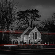 Light Trails at St Marys Church