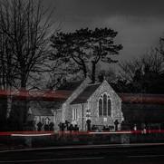 Light Trails at St Marys Church