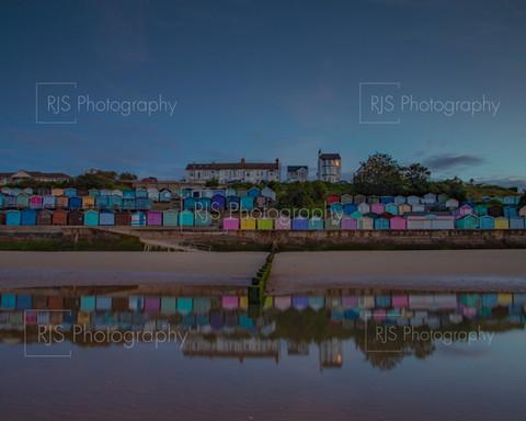 Colourful Beach Huts at Walton