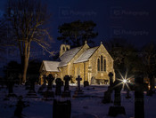 St Marys in the Evening Snow