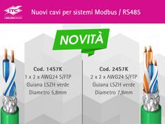 ITC --- nuovi cavi per sistemi Modbus / RS485