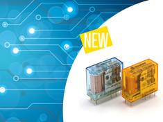 FINDER --- Relè per circuito stampato e ad innesto, novità Finder