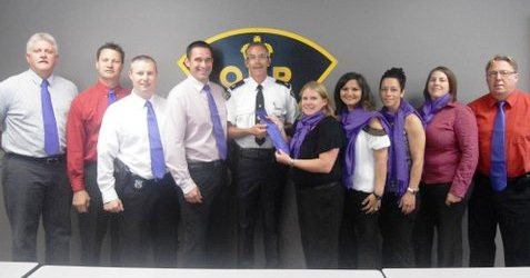 Purple Tie & Scarf For Elder Abuse Awareness