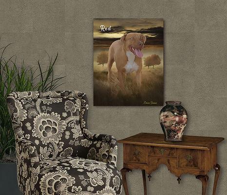 Autumn Field Custom Pet Portrait Paintin