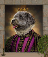 King Newton Period Style Custom Pet Portrait Painting
