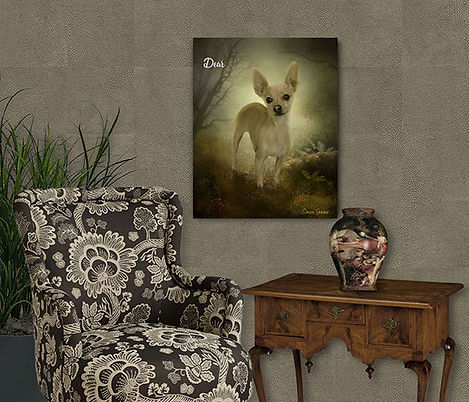Custom Dog - Cat Digital Oil Pet Portrai