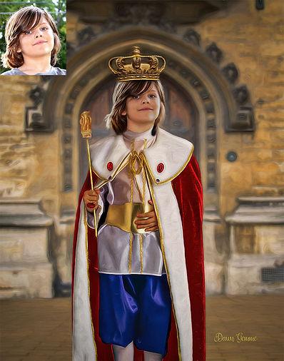 King of the Castle Custom Child Fantasy