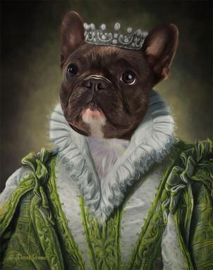 Princess Ann Period Style Custom Pet Por