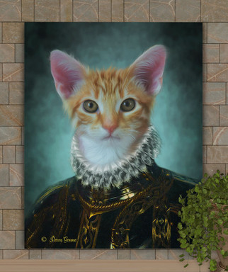 Sir Henry Period Style Custom Pet Portrait Painting