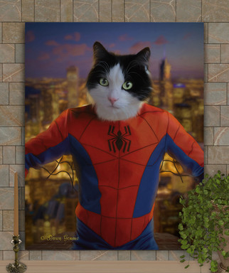 Spiderman Custom Pet Portrait Painting Painting