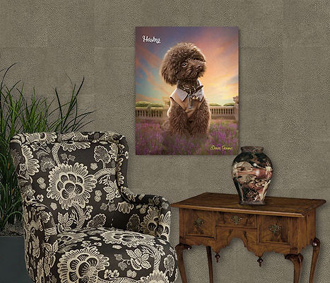 Heather Sunset Custom Digital Oil Pet Pa