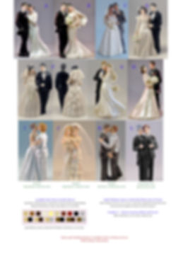 Wedding Cake Topper Bride Groom Figurine